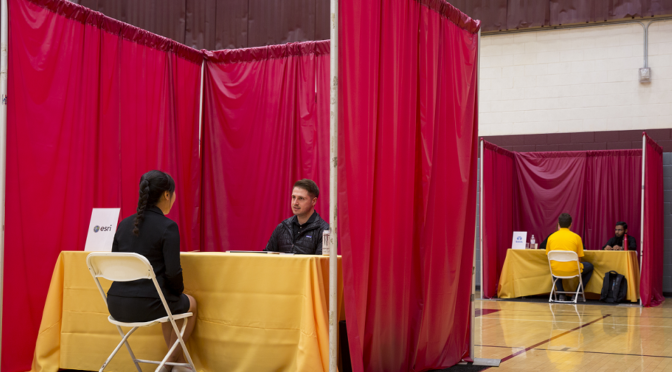 On-Campus Interview Booth